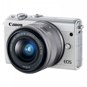 Canon EOS M100 systeemcamera Wit + 15-45mm IS STM Zilver